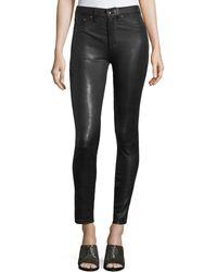 Rag & Bone - High-rise Lamb Leather Skinny Pants - Lyst