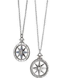 "Monica Rich Kosann - Travel"" Global Compass Charm Necklace"" - Lyst"
