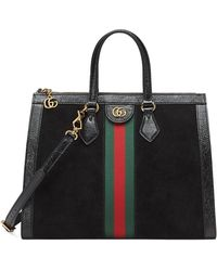 Gucci - Ophidia Web Suede Top-handle Tote Bag - Lyst