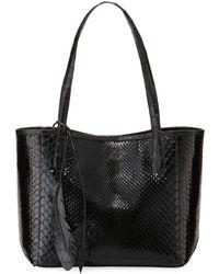 Nancy Gonzalez - Erica Small New Python Leaf Tote Bag - Lyst