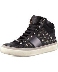 Jimmy Choo - Men's Star-studded Hi-top Sneakers - Lyst