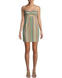 Nanette Lepore - Atlantis Striped Mini Dress - Lyst