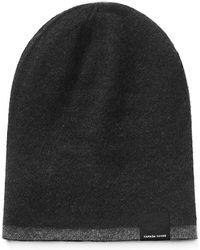 a29422de4c0 Lyst - Canada Goose Melton Wool Baseball Hat in Black for Men
