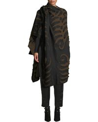 Urban Zen - Patterned Cashmere-blend Poncho - Lyst