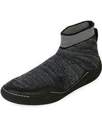 Lanvin - Men's Mesh Low Sock Runner Trainers - Lyst