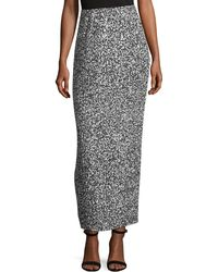 Solace London - Printed Pleated Maxi Skirt - Lyst