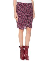 Isabel Marant - Floral-print Draped Silk Skirt - Lyst