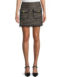 Veronica Beard - Margot Short Metallic Tweed Skirt - Lyst