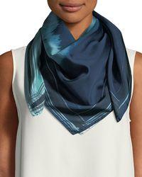 Lafayette 148 New York - Oasis Ombré Floral Silk Scarf - Lyst