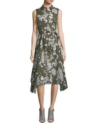 Lafayette 148 New York - Moxie Exposed-blooms Shirtdress - Lyst