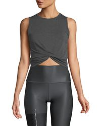 Alo Yoga - Cover Cropped Tank Top - Lyst