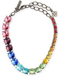 Oscar de la Renta - Swarovski Crystal Cascade Rainbow Necklace - Lyst