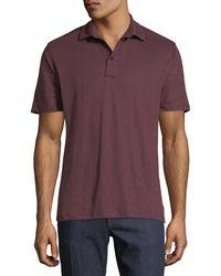 Ermenegildo Zegna - Solid Linen Polo Shirt - Lyst