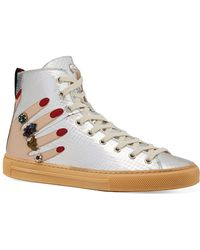 027775e2a933 Lyst - Gucci Women s -dapper Dan Sneaker in Blue