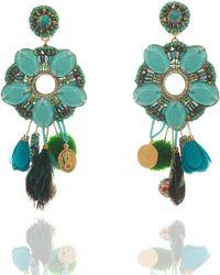 Ranjana Khan Isabel Tassel Statement Clip-On Earrings n95f7RWY