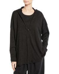 Eskandar - Zip-front Smaller Front Larger Back Pima Cotton Jersey Jacket - Lyst