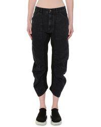 Stella McCartney - Ruched Seam Wide-leg Crop Jeans - Lyst