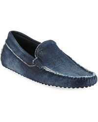 b7e37965554 Lyst - Ermenegildo Zegna Denim Espadrilles in Blue for Men