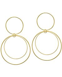 Lana Jewelry - Two-tiered 14k Gold Flat Circle Earrings - Lyst