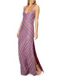 Ramy Brook Hadar Printed V-neck Sleeveless Maxi Dress