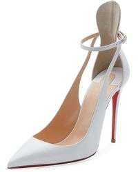 Christian Louboutin - Mascara 100mm Leather Red Sole Pump - Lyst
