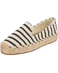Soludos - Classic Striped Canvas Espadrille Smoking Slippers - Lyst