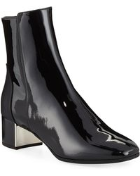 07775087c50cb Giuseppe Zanotti - Patent Leather Ankle Booties - Lyst
