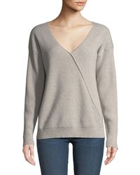 J Brand - Loran Reversible Cashmere Pullover Sweater - Lyst