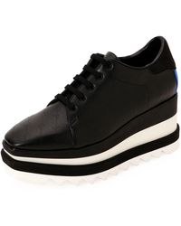 0740abefa17 Lyst - Stella Mccartney Denim Flatform Sneakers Blue in Metallic