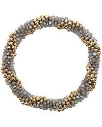 Meredith Frederick - Audrey 14k Gold And Labradorite Bead Bracelet - Lyst