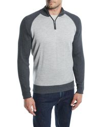 Loro Piana - Men's Cashmere-cotton Half-zip Sweater - Lyst