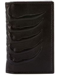Alexander McQueen - Men's Rib Cage-embossed Leather Organizer Wallet - Lyst