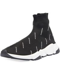 Balenciaga - Speed Signature Mid-top Trainer Sock Sneaker - Lyst