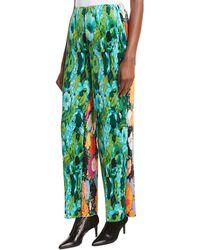 Richard Quinn - Floral-print Plissé Trousers - Lyst