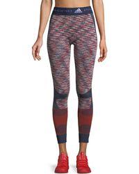 adidas By Stella McCartney - Seamless Space-dye Yoga Tights - Lyst