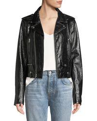 Elie Tahari - Jacalyn Textured Leather Jacket - Lyst
