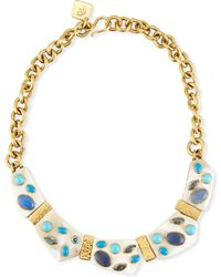 Ashley Pittman - Jasiri Light Horn Collar Necklace - Lyst