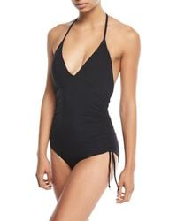 Seafolly - Ruched Side One-piece Swimsuit - Lyst