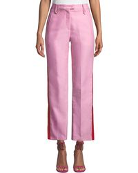 Pinko - Side-stripe Straight-leg Tuxedo Pants - Lyst
