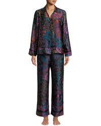Josie Natori - Nouveau Classic Silk Pajama Set - Lyst