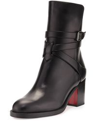 Christian Louboutin - Karistrap Leather 70mm Red Sole Ankle Boot - Lyst