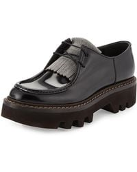 Brunello Cucinelli - Monili-beaded Leather Derby Oxford - Lyst