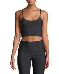 Spiritual Gangster - Practice Cropped Side-stripe Cami - Lyst