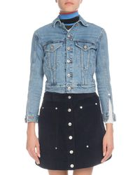 Proenza Schouler - Pswl Button-front Cropped Jean Jacket - Lyst