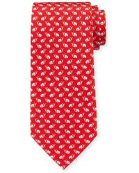 Ferragamo - Elephants With Ice Cream Silk Tie - Lyst