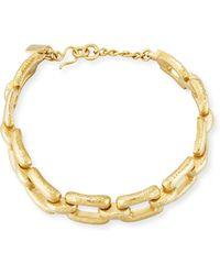 Ashley Pittman - Bila Hammered Bronze Link Choker Necklace - Lyst