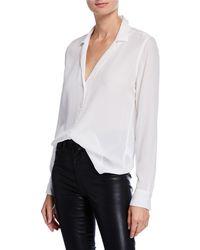 Equipment - Adalyn Silk Long-sleeve Blouse - Lyst