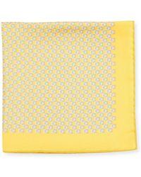 Ferragamo - Gancini Silk Twill Pocket Square - Lyst