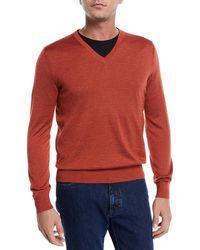 Ermenegildo Zegna - V-neck Sweater - Lyst