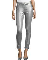 Elie Tahari   Azella Metallic Skinny Jeans   Lyst